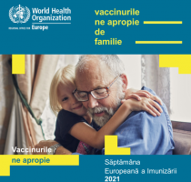 """""""Vaccinurile ne apropie"""" – sloganul Săptămânii Europene a Imunizării, pe care o marcăm în perioada 26 aprilie – 2 mai 2021"""