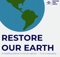 """22 aprilie – Ziua Pământului cu genericul """"Restabilim Pământul"""""""